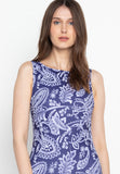 Heather Navy Paisley