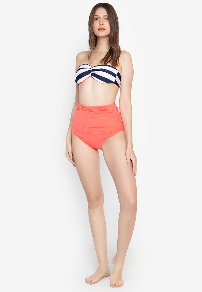 Luna Navy Stripes & Coral