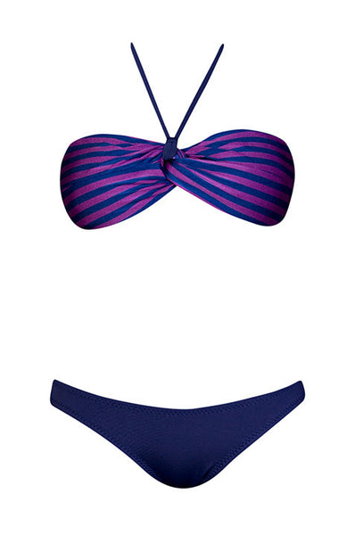 Lucia Purple Stripes, Purple Navy
