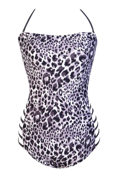Verona Black & White Animal Print, Dark Gray