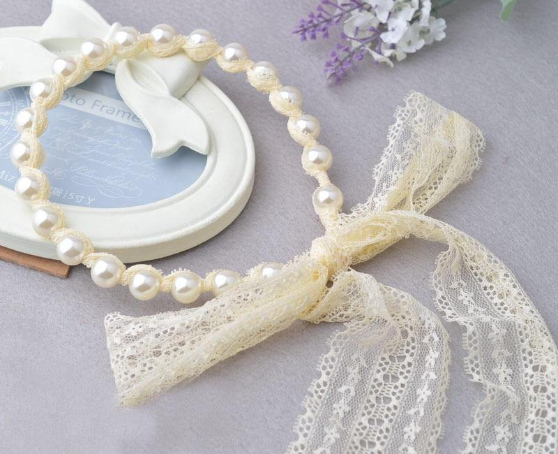 Pearl & Lace Flower Girl Headband – My First Closet