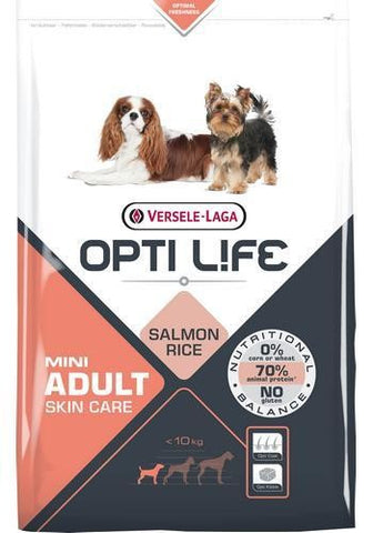 Opti Life Mini Adult Skin Care - Laks og ris