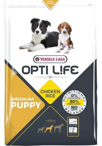 Opti life PUPPY Medium - Kylling og ris