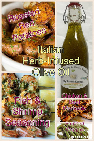 Herb-Infused Olive Oil (Italian-Herb) - Naturally My Sister's Keeper