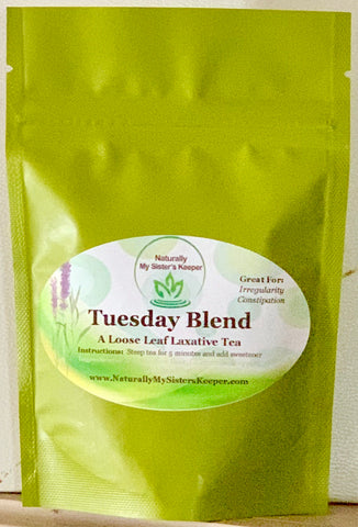 Tuesday Blend - Laxative Herbal Tea - Naturally My Sister's Keeper