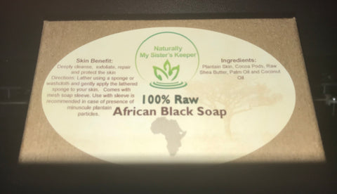 African Black Soap - Naturally My Sister's Keeper