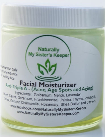 Anti-Triple A (Anti-Aging, Acne & Age Spots) - Facial Moisturizer - Naturally My Sister's Keeper