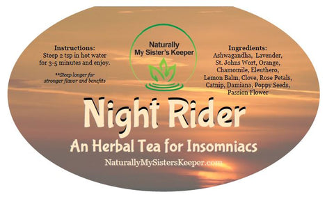 Night Rider - An Herbal Tea for Insomnia - Naturally My Sister's Keeper