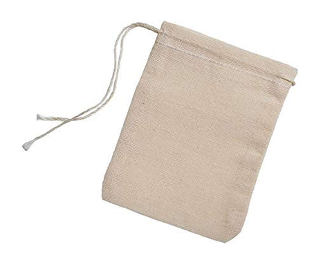 100% Cotton Muslin Tea Bag (reusable) - Naturally My Sister's Keeper