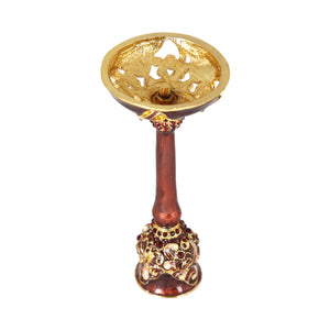 Candlestand-brown enamel stones - Barton,Son & Co.