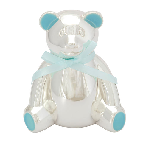 BABY, Piggy Bank, Teddy Bear, Blue - Barton,Son & Co.