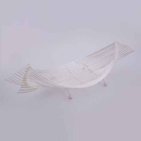 "Dish, Boat fabricated with Wire, 14"" by 5.5"". - Barton,Son & Co."