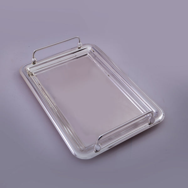"Tray rectangle, Handles, Plain, 13.5"" by 9.5"" - Barton,Son & Co."
