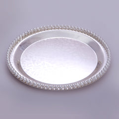 "Tray, Circular, Bead border, ornamental design, 12"" dia - Barton,Son & Co."