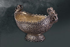 Bowl -Oval-Antique Finish with Handle & Base - Barton,Son & Co.