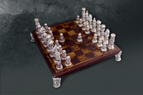 Chess Set-Marble Board - Barton,Son & Co.