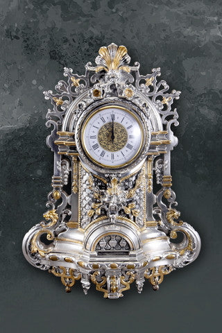 Clock with Golden Flower & Angels- - Barton,Son & Co.