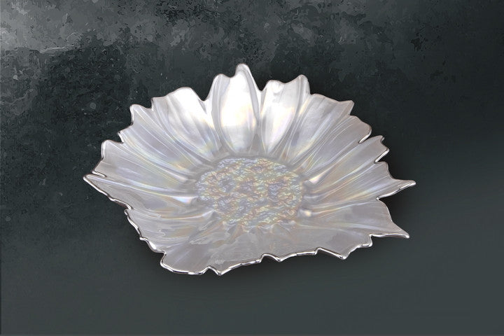 Crystal Glass Dish with Silver Sheet - Barton,Son & Co.