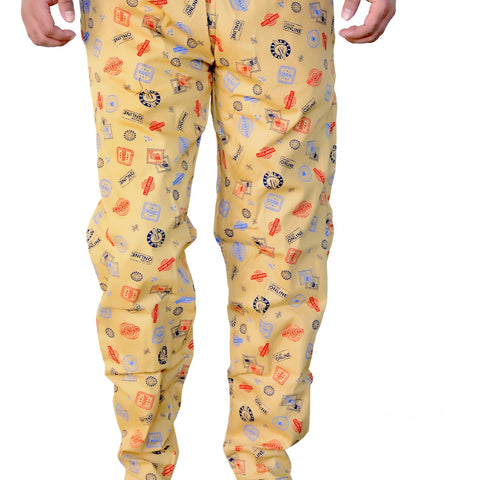 Games On Doors Printed Cotton Pyjamas-yellow01