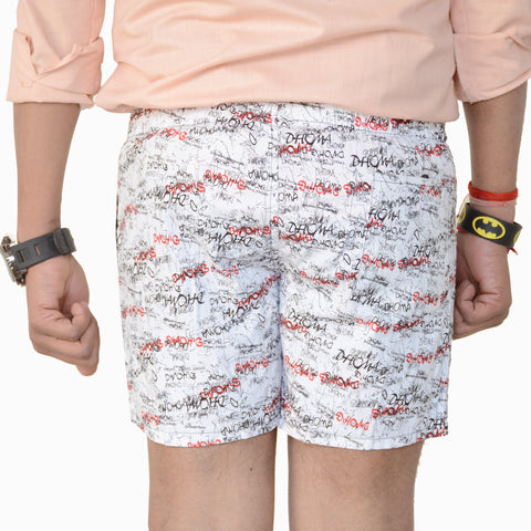 Games On Doors Printed Men Boxers-white