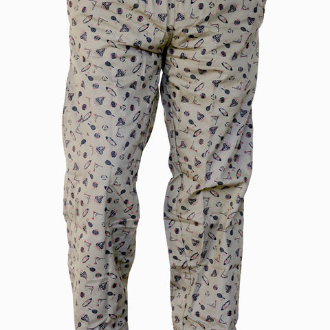 Games On Doors Printed Cotton Pyjamas-muddy
