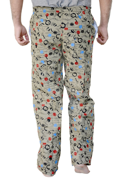 Games On Doors Printed Cotton Pyjamas-grey