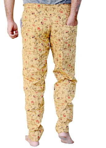 Games On Doors Printed Cotton Pyjamas-yellow03