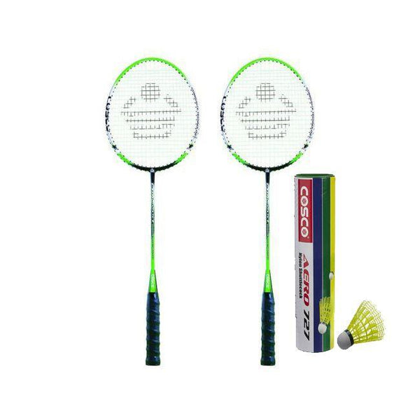 Cosco CBX-555 N Badminton Racket Pair With Aero 727 Nylon Shuttle Cock- Badminton Kit