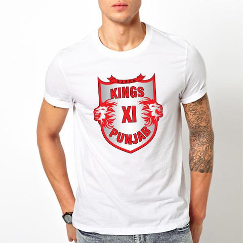 Games On Doors Kings XI Punjab IPL Dryfit T-shirt