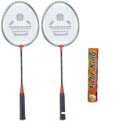 """Cosco CB-120 Badminton Racket Pair With Field King Badminton Shuttle Cock ( Pack of 10 )- Badminton Kit"