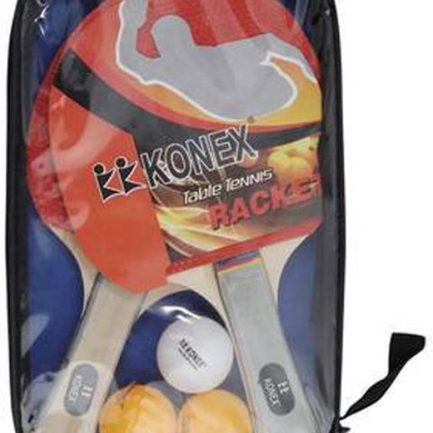 Konex Wood Table Tennis Racket Set with Cover for Kids