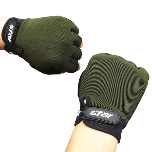 2017 Men Cycling Gloves Half Finger Bicycle Gloves Non-slip Anti-skid Soft Breathable Cycling Mittens Fitness Sports #EW