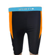 Konex Men Sky Blue-Black(Orange Strips) Swimming Trunk