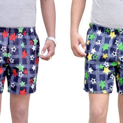 Games On Doors Star Printed Cotton Boxers Combo-Pack Of 2