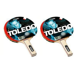 Stiga Toledo Table Tennis Racket-Table Tennis-Games on Doors-assorted-standard-Games on Doors
