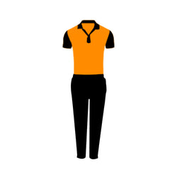 Games On Doors Super Micro Coloured Cricket Dress(Orange,Black)