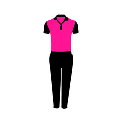 Games On Doors Super Micro Coloured Cricket Dress(Pink,Black)