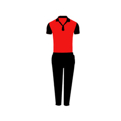 Games On Doors Super Micro Coloured Cricket Dress(Red,Black)