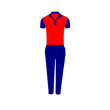Games On Doors Super Micro Coloured Cricket Dress(Red,Navy Blue)