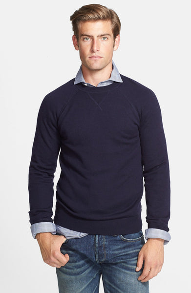 Raglan Merino Wool Crewneck Sweater