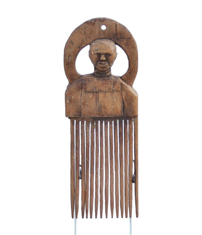 African Wooden Carved Comb