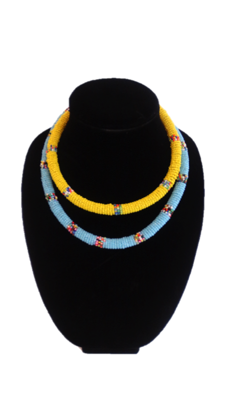 African Beaded Rope Necklace - A'Maze Africa - 3