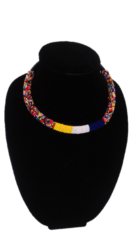 Luxury Masai Beaded Rope Necklace - A'Maze Africa
