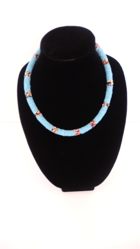 African Beaded Rope Necklace - A'Maze Africa - 4