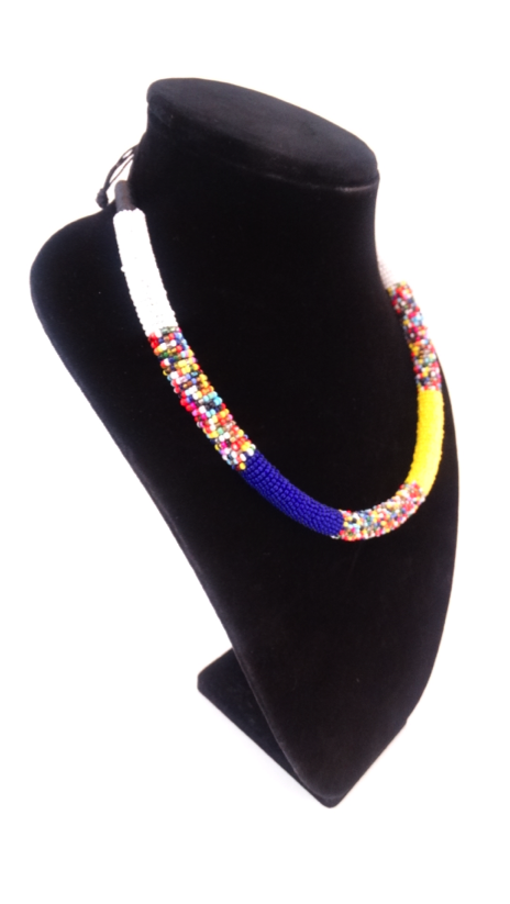 Luxury Masai Beaded Rope Necklace - A'Maze Africa - 2