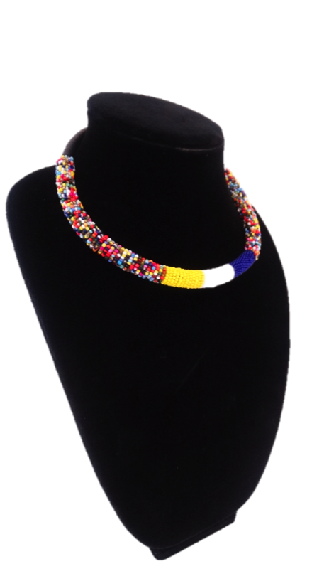 Luxury Masai Beaded Rope Necklace - A'Maze Africa - 7