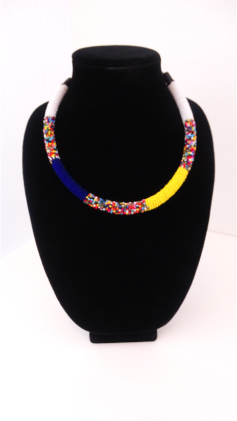 Luxury Masai Beaded Rope Necklace - A'Maze Africa - 1