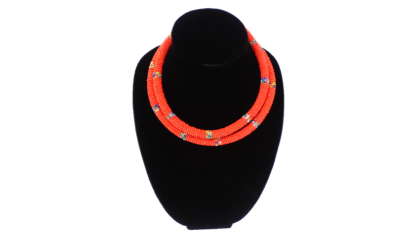 African Beaded Rope Necklace - A'Maze Africa - 5
