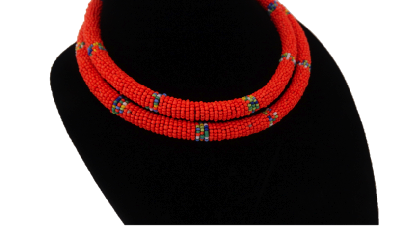 African Beaded Rope Necklace - A'Maze Africa - 1
