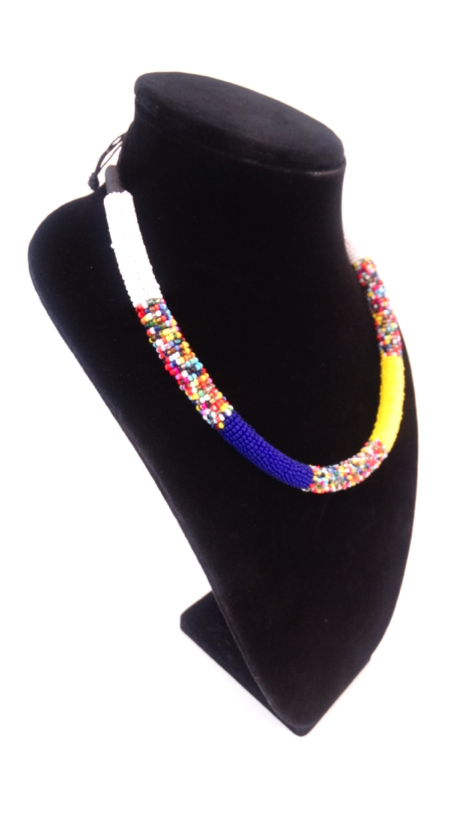 Luxury Masai Beaded Rope Necklace - A'Maze Africa - 4